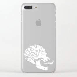 Just tired Clear iPhone Case
