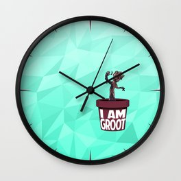 Baby Groot (Spearmint variant) Wall Clock