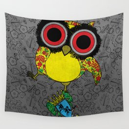 Printed Owl Wall Tapestry
