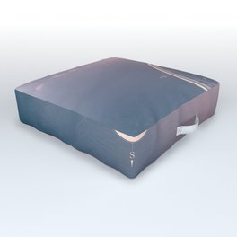 The Edge of Tomorrow - Rosegold Compass Outdoor Floor Cushion