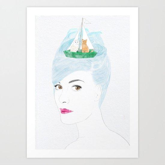 When Audrey Met Edward Art Print