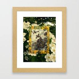 Floral inception Framed Art Print