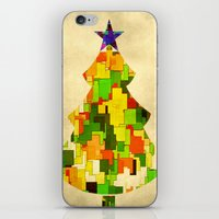 christmas tree iPhone & iPod Skins featuring Christmas tree by SensualPatterns