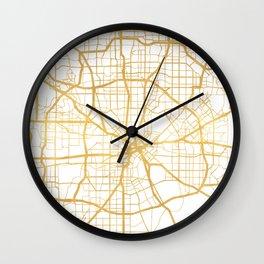 DALLAS TEXAS CITY STREET MAP ART Wall Clock
