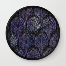 Dark Veil Trees Wall Clock