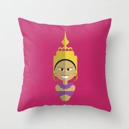 Thai Doll Throw Pillow