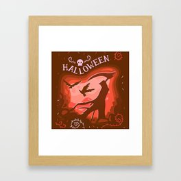 Halloween Creatures Framed Art Print