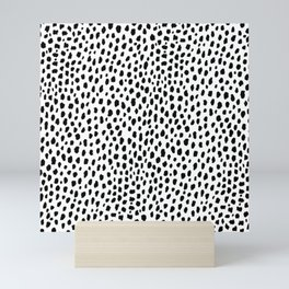 Dalmatian Spots (black/white) Mini Art Print