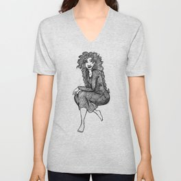 Lady Macbeth sketch Unisex V-Neck