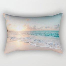 Beautiful Ocean Sunset Rectangular Pillow