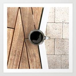 Artistic Cold Brew Shot 2 // Wood Steel & Stone Caffeine Coffee Shop Barista Wall Hanging Photograph Art Print
