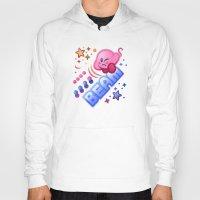 kirby Hoodies featuring Kirby Beam by likelikes