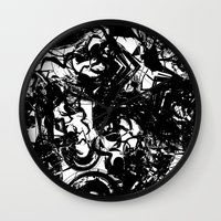 war Wall Clocks featuring war by BUBUBABA