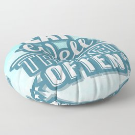 Eat Well Travel Often Restaurant Decor Inspirational Quote Design Floor Pillow