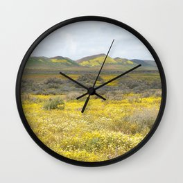 Mega Bloom Central California, Carrizo Plain National Monument Wall Clock