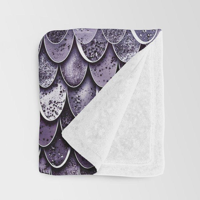 MAGIC MERMAID - MYSTIC TEAL-PURPLE Throw Blanket