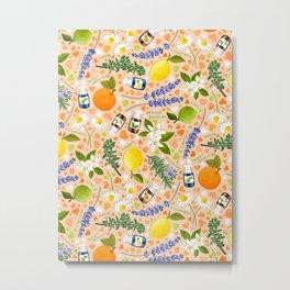 Essential Oils Love on Pastel Peach Metal Print