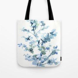 blue fresh leaves plant art Tote Bag