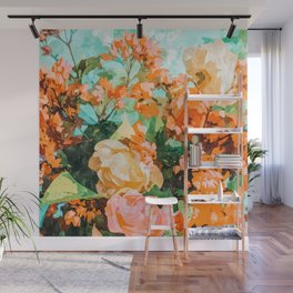 Blush Garden #painting #nature #floral Wall Mural