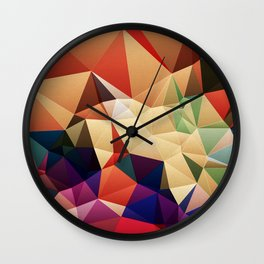 Abstract Geometric Art Colorful Design 67 Wall Clock
