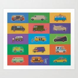 Famous Vans Art Print