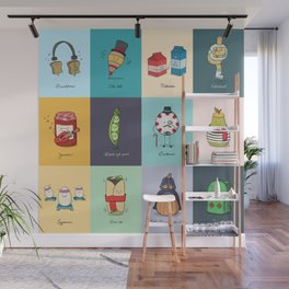 Punny Doodle Collection Wall Mural