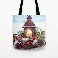 merry christmas Tote Bags featuring Merry Christmas by UtArt