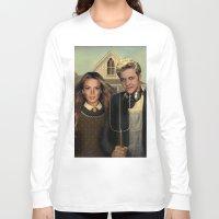 lindsay lohan Long Sleeve T-shirts featuring Lindsay & Sam Tee! by Eric Terino