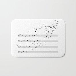 Natural Musical Notes Bath Mat