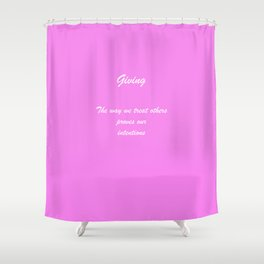 Rule 8 Giving Shower Curtain
