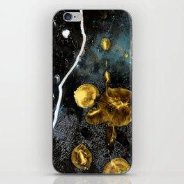 gold dark matter iPhone Skin