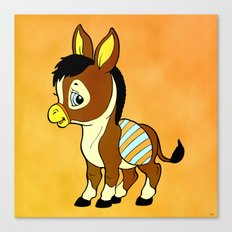 Childhood Donkey Canvas Print
