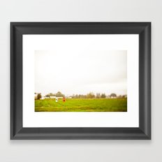 ghost field Framed Art Print