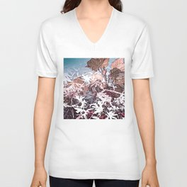 Frosty Transformation to Winter - An abstracted impression Unisex V-Neck