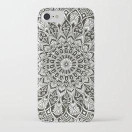 SUPER SILVER HAZE Mandala Drawing iPhone Case