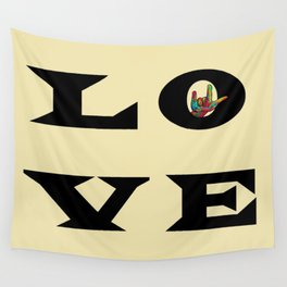 LOVE Typography Wall Tapestry