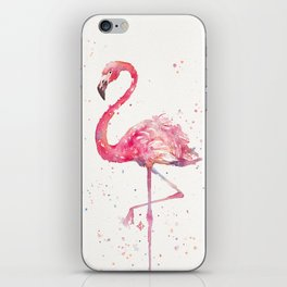 A Flamingos Fancy iPhone Skin