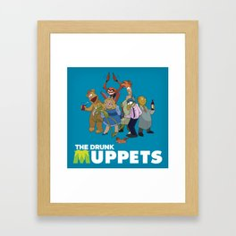 Drunk Muppets Cartoon Parody Framed Art Print
