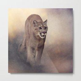 Florida panther or cougar digital painting Metal Print