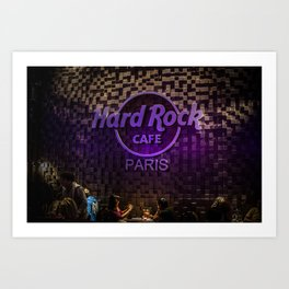 Hard Rock Cafe Paris Art Print