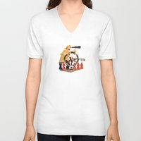 captain V-neck T-shirts featuring Captain by Design4u Studio