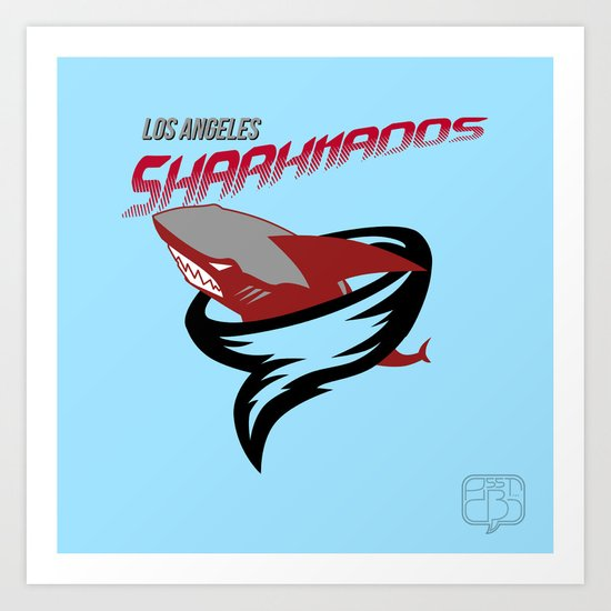 LA Sharknados Art Print