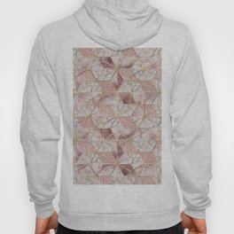 Modern rose gold geometric star flower pattern Hoody
