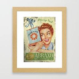 Abraxo - Custom Fallout Ad Framed Art Print