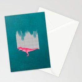 DinoRose - pinky tyrex Stationery Cards