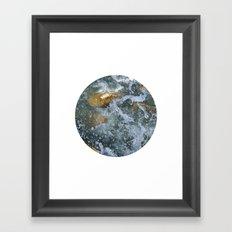 Planetary Bodies - Splash Framed Art Print