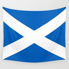 National flag of Scotland - Authentic version to scale and color Wall Tapestry