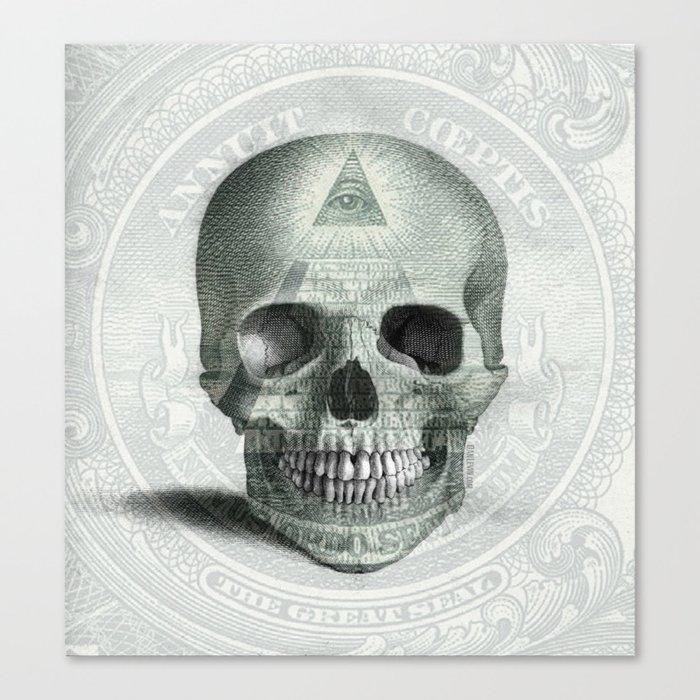Eye on the Skull Canvas Print