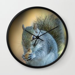 Squirrel and the peanut Wall Clock