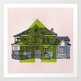 Letterpress Houses 1 Art Print
